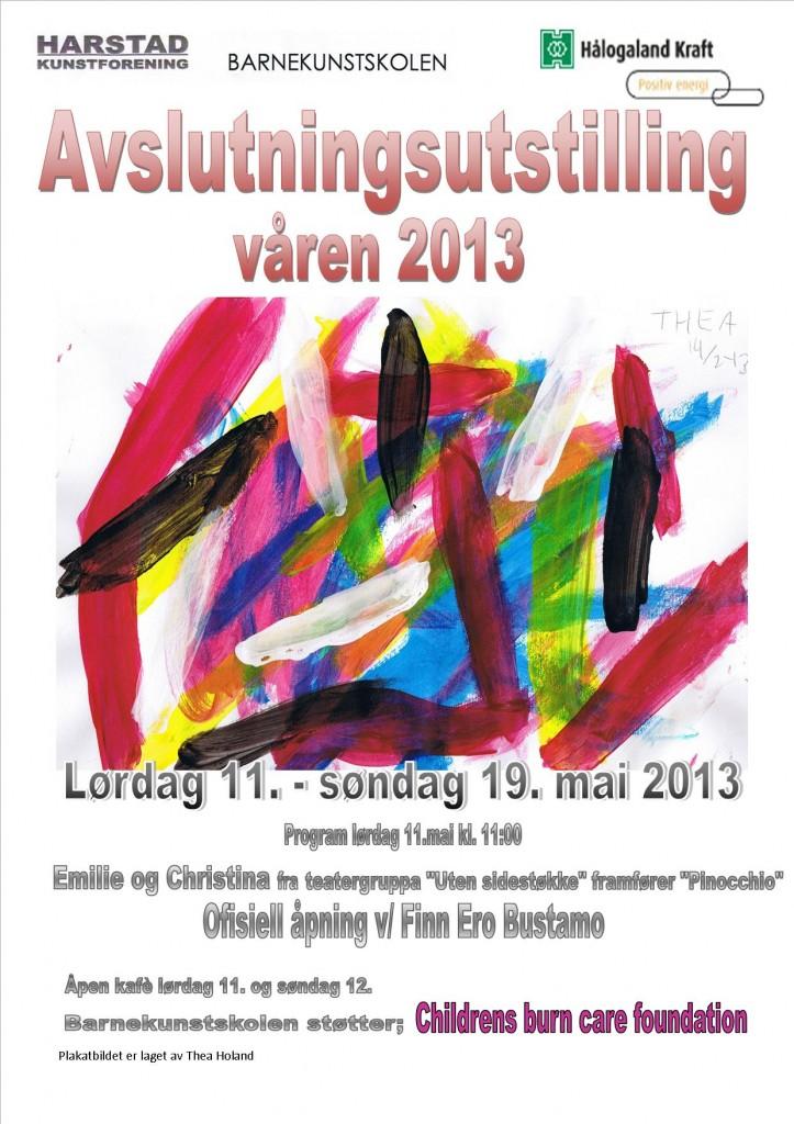 Plakat barnekunstskolen vårkurset 2013